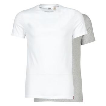 Ruhák Férfi Rövid ujjú pólók Levi's SLIM 2PK CREWNECK 1 Fehér / Szürke