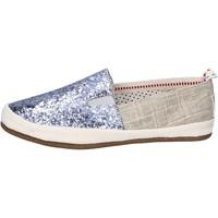 Cipők Női Belebújós cipők O-joo slip on tela glitter Argento