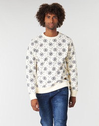 Ruhák Férfi Pulóverek Scotch & Soda CREWNECK SWEAT WITH LOGO ALL-OVER PRINT Fehér