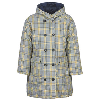 Ruhák Női Steppelt kabátok Maison Scotch REVERSIBLE DOUBLE BREASTED JACKET IN CHECK AND SOLID Tengerész
