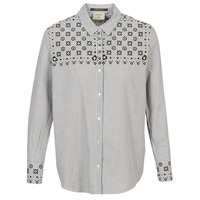 Ruhák Női Ingek / Blúzok Maison Scotch BUTTON UP SHIRT WITH BANDANA PRINT Szürke