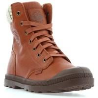 Cipők Női Csizmák Palladium Manufacture Pampa HI Knit LP Barna
