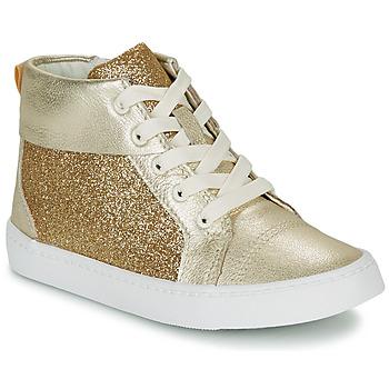 Cipők Lány Magas szárú edzőcipők Clarks CITY OASISHI K Arany