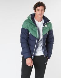 Ruhák Férfi Steppelt kabátok Nike M NSW DWN FILL WR JKT HD Tengerész / Zöld