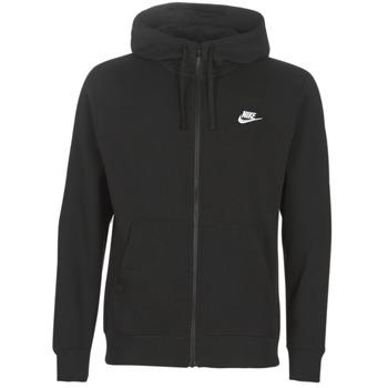 Ruhák Férfi Pulóverek Nike M NSW CLUB HOODIE FZ BB Fekete