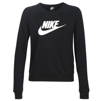 Ruhák Női Pulóverek Nike W NSW ESSNTL CREW FLC HBR Fekete