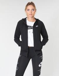 Ruhák Női Pulóverek Nike W NSW ESSNTL HOODIE FZ FLC Fekete