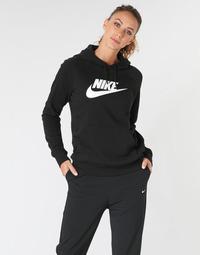 Ruhák Női Pulóverek Nike W NSW ESSNTL HOODIE PO  HBR Fekete