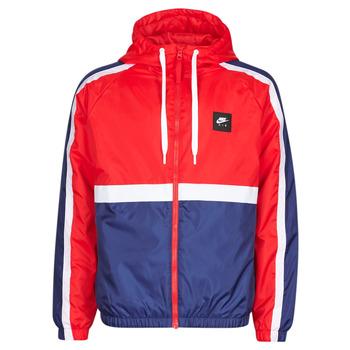 Ruhák Férfi Melegítő kabátok Nike M NSW NIKE AIR JKT SSNL WVN Piros / Tengerész