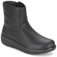 Cipők Női Bokacsizmák FitFlop LOAFF SHORTY ZIP BOOT Fekete