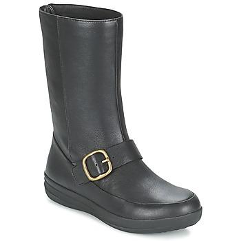 Cipők Női Csizmák FitFlop FF-LUX BIKER Fekete