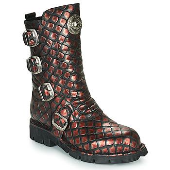 Cipők Női Csizmák New Rock M-373X Fekete  / Piros