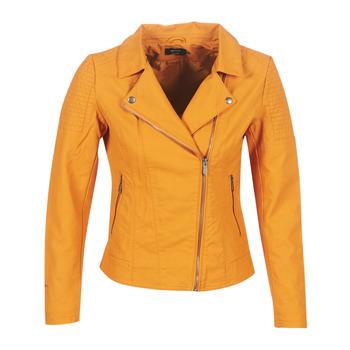 Ruhák Női Bőrkabátok / műbőr kabátok Only ONLMEGAN Citromsárga