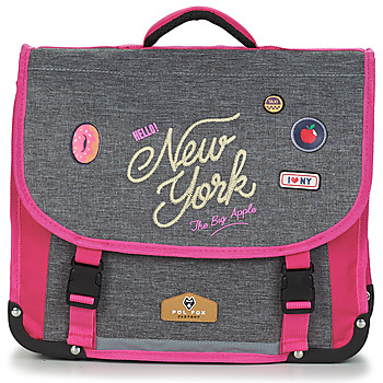 Táskák Lány Iskolatáskák Back To School POL FOX NEW YORK CARTABLE 38 CM Szürke / Rózsaszín