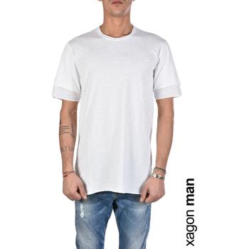 Ruhák Férfi Rövid ujjú pólók Xagon Man  Fehér