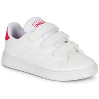 Cipők Lány Rövid szárú edzőcipők adidas Originals ADVANTAGE C Fehér