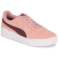 Cipők Női Rövid szárú edzőcipők Puma COURT CALI RS Rózsaszín