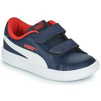 Cipők Fiú Rövid szárú edzőcipők Puma SMASH Tengerész