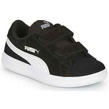 Cipők Gyerek Rövid szárú edzőcipők Puma SMASH Fekete