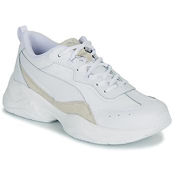 Cipők Női Rövid szárú edzőcipők Puma CILIA LUX Fehér