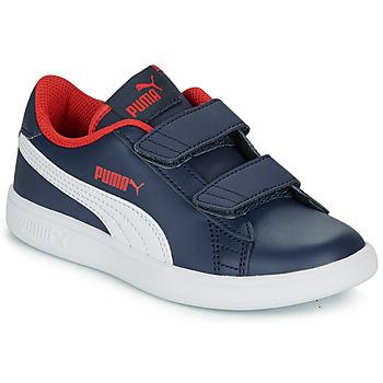 Cipők Fiú Rövid szárú edzőcipők Puma SMASH V2 L V PS Tengerész