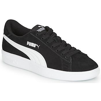 Cipők Fiú Rövid szárú edzőcipők Puma Puma Smash v2 SD Jr Fekete