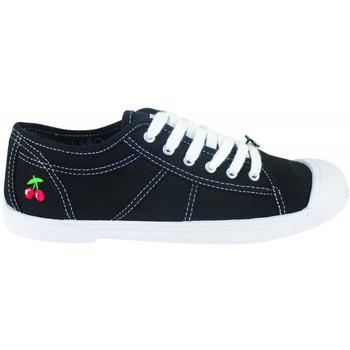 Cipők Női Rövid szárú edzőcipők Le Temps des Cerises Basic 02 Fekete