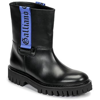 Cipők Férfi Csizmák John Galliano 8560 Fekete  / Kék