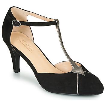 Cipők Női Félcipők André LOUCIANE Fekete