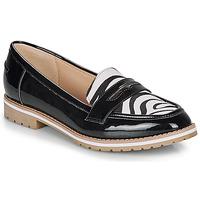 Cipők Női Mokkaszínek André PORTLAND Fekete  / Motif