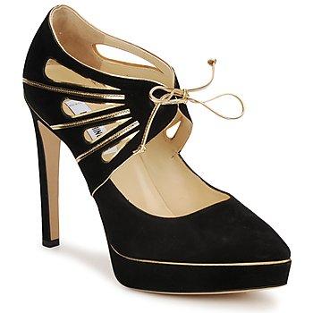 Shoes Női Félcipők Moschino MA1004 Fekete-Arany