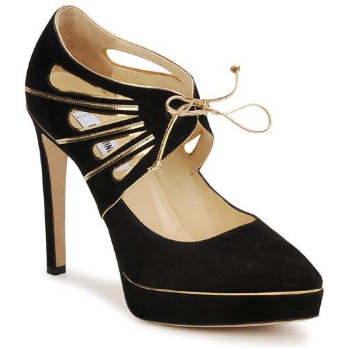 Cipők Női Félcipők Moschino MA1004 Fekete-arany