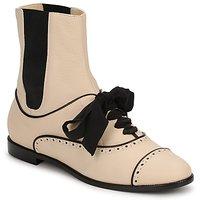 Cipők Női Csizmák Moschino MA2103 Bézs