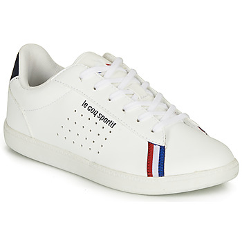 Cipők Fiú Rövid szárú edzőcipők Le Coq Sportif COURTSTAR GS SPORT BBR Fehér