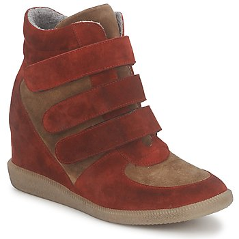 Cipők Női Magas szárú edzőcipők Meline IMTEK BIS Barna / Piros