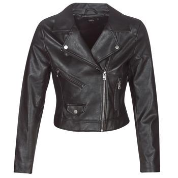 Ruhák Női Bőrkabátok / műbőr kabátok Only ONLENYA Fekete