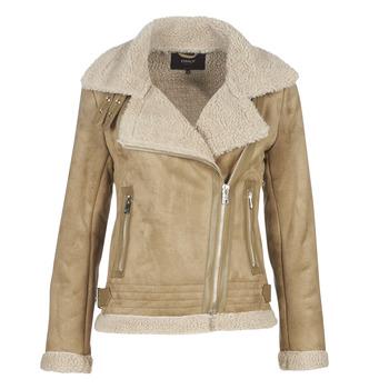Ruhák Női Bőrkabátok / műbőr kabátok Only ONLMADDIE Bézs