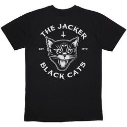 Ruhák Férfi Rövid ujjú pólók Jacker Black cats Fekete
