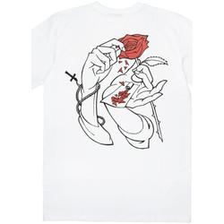 Ruhák Férfi Rövid ujjú pólók Jacker Holy roses Fehér