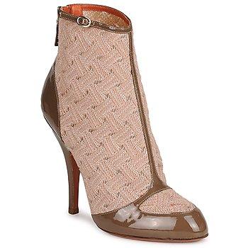 Cipők Női Bokacsizmák Missoni LISCIA Bézs / Barna