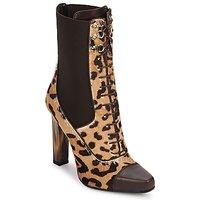 Cipők Női Bokacsizmák Roberto Cavalli SPS769 Barna
