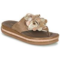 Cipők Női Lábujjközös papucsok Think ZEGA Bézs