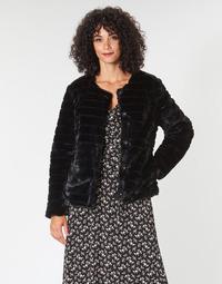 Ruhák Női Kabátok Lauren Ralph Lauren FAUX CHUBBY Fekete