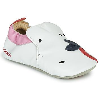 Cipők Lány Mamuszok Catimini CIRINI Fehér / Rózsaszín