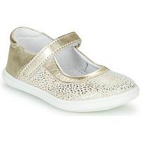 Cipők Lány Balerina cipők  GBB PLACIDA Fehér / Arany