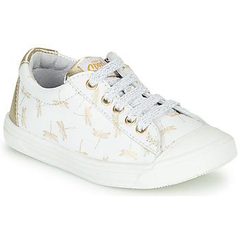 Cipők Lány Rövid szárú edzőcipők GBB MATIA Fehér / Arany