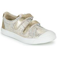 Cipők Lány Rövid szárú edzőcipők GBB NOELLA Fehér / Arany