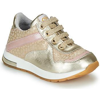 Cipők Lány Rövid szárú edzőcipők GBB LELIA Arany / Bézs