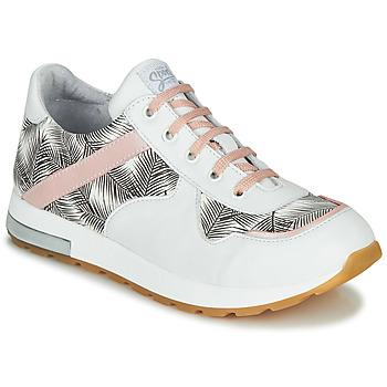 Cipők Lány Rövid szárú edzőcipők GBB LELIA Fehér / Fekete  / Rózsaszín