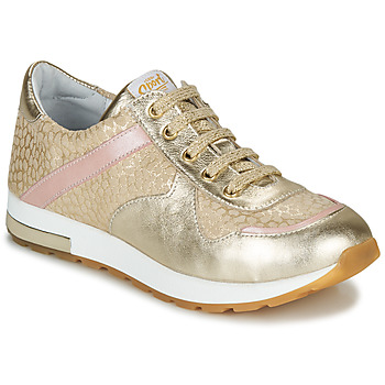 Cipők Lány Rövid szárú edzőcipők GBB LELIA Bézs / Arany